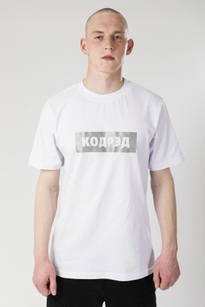 Футболка Regular Cyrillic Box Reflective Белый