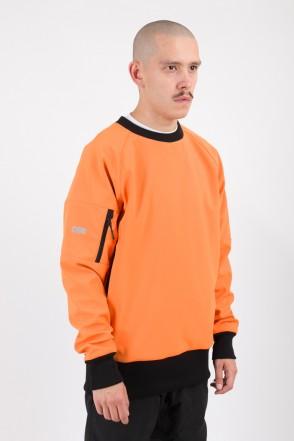 Firm 2 Windbreaker/Crew-neck Orange/Orange Hood