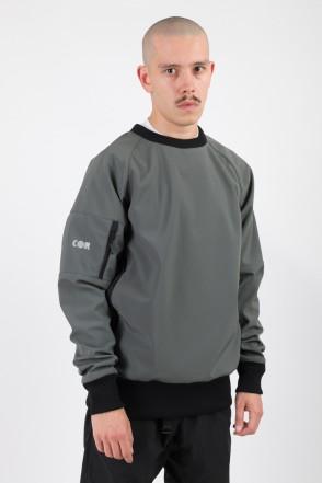 Firm 2 Windbreaker/Crew-neck Dark Gray/Orange Hood