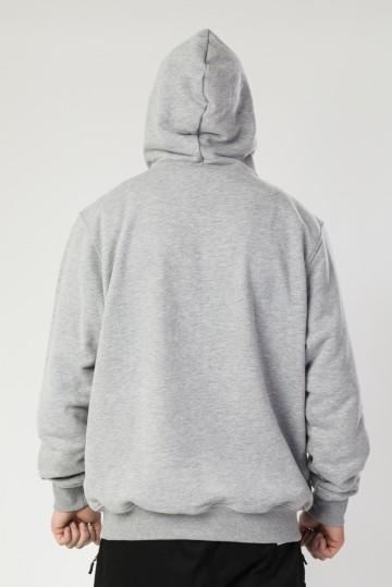 Толстовка Base Hoodie Wide Summer Серый Меланж Oversize Logo R