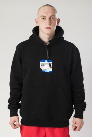 USB Hood Hoodie Black