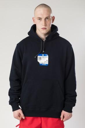 USB Hood Hoodie Navy