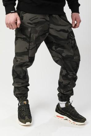 Cuffs 2 Pants Grey-Black Camouflage