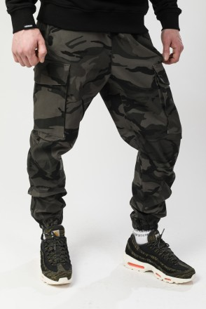 Cuffs 2 Pants Grey-Black Camouflage
