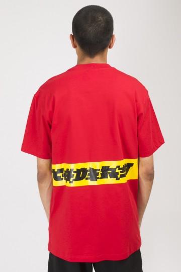 T+ Glyphglitch logo T-shirt Red