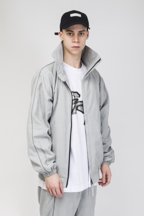 Stripe Track Jacket  2019 Light Gray