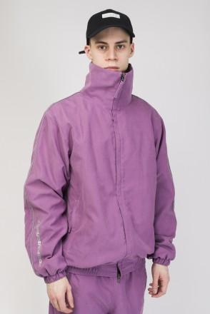 Куртка Stripe Jacket  2019 Фиолетовый Светлый