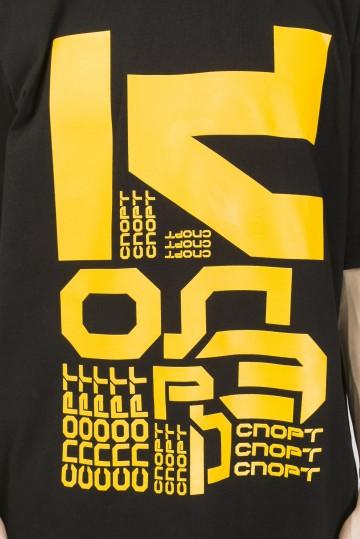 Футболка T-Shirt  Letter Kit Черный