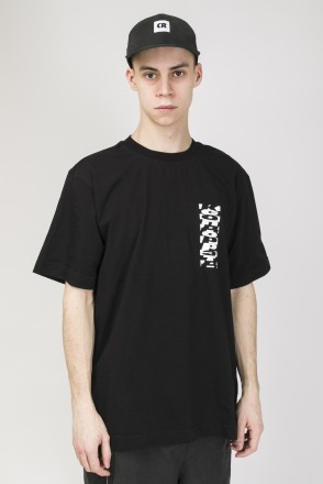 T-Shirt Cyrillic Mix Back Pattern Black