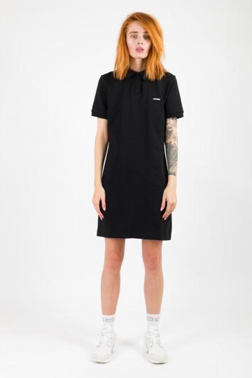Платье с коротким рукавом Adress Черное