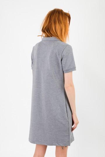 Платье с коротким рукавом Adress Темно-серый Меланж