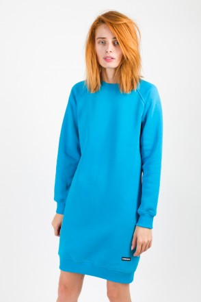 Clean Dress Crew-neck Sky Blue