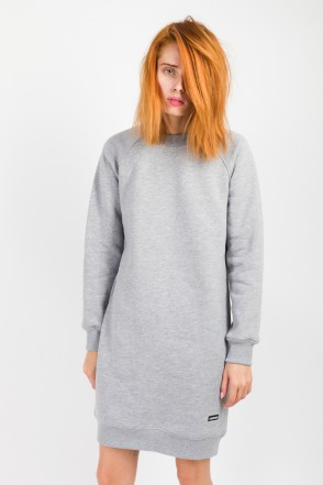 Clean Dress Crew-neck Gray Melange