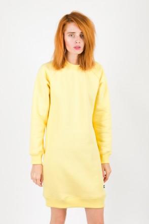 Clean Dress Crew-neck Yellow Pale