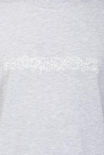 Футболка Regular Tear Outline Cyrillic Glow Серый Меланж