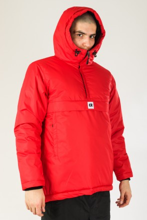 Chrome 4 Anorak Red