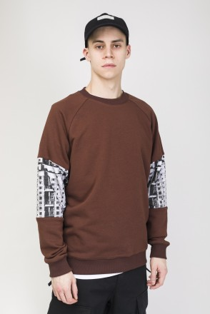 Mid Line Crew-neck Brown