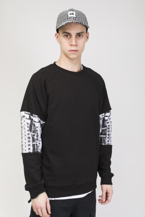 Mid Line Crew-neck Black