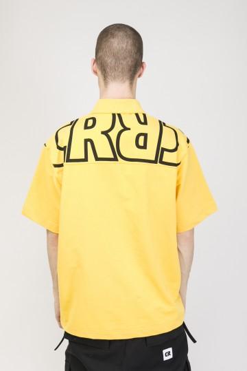 Поло Powlow Желтый теплый Принт CR Черный