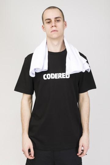 Regular Logo R T-shirt Black/White Print CODERED