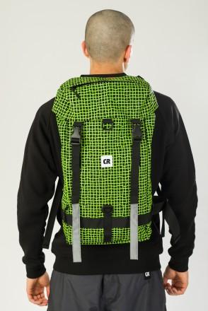 Wildstyle City 2 Backpack Black Taslan/Pattern Bent Grid Fluorescent Lemon