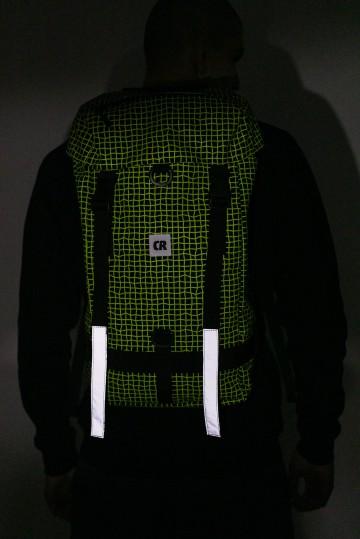 Рюкзак Wildstyle City 2 Черный Таслан/Паттерн Bent Grid Флюр Лимон
