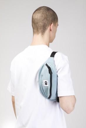 Сумка поясная Hip Bag Голубой Бледный Микрофибра