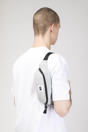 Сумка поясная Hip Bag Серый Светлый Микрофибра