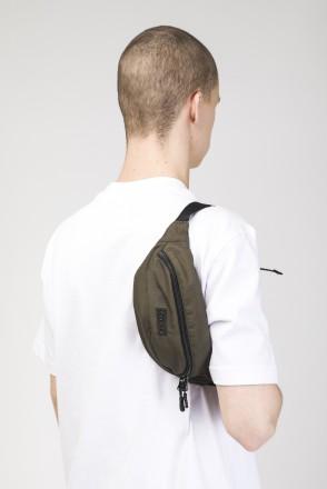 Сумка поясная Hip Bag Болотный Лесной Микрофибра