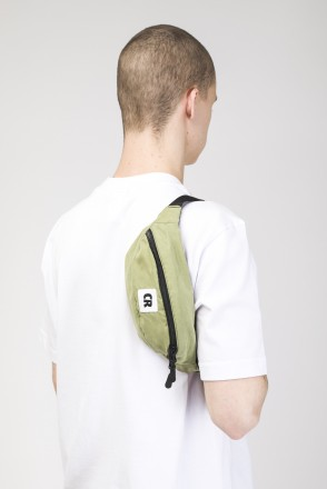Сумка поясная Hip Bag Зеленый Полевой Микрофибра