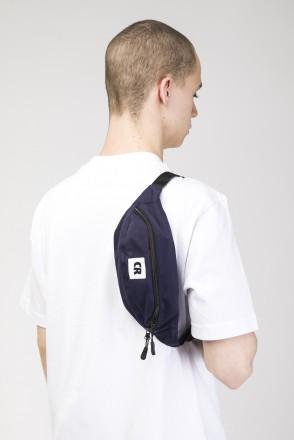 Сумка поясная Hip Bag Синий Темный Рипстоп