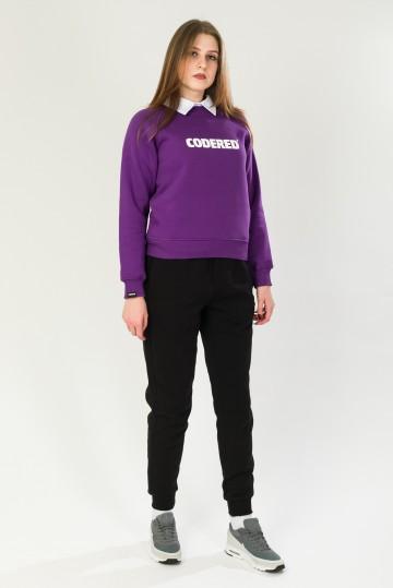Толстовка-Крюнек Clean Фиолетовый Logo R