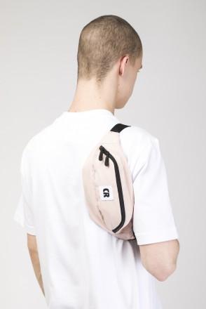 Сумка поясная Hip Bag Розовый Светлый Микрофибра