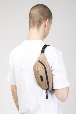 Сумка поясная Hip Bag Бежевый Темный Микрофибра