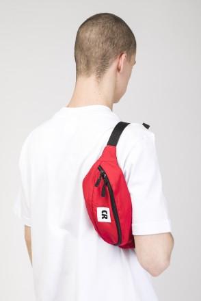 Сумка поясная Hip Bag Красный Таслан