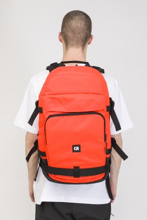 Tour Backpack Orange Fluorescent Ripstop/Black Art.Leather