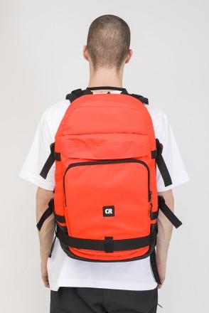 Tour Backpack Orange Fluorescent Ripstop/Black Art.Leather