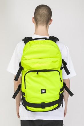 Tour Backpack Fluorescent Lemon Ripstop/Black Art.Leather