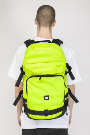 Tour Backpack Fluorescent Lemon Ripstop/Black Art.Leather
