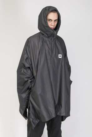 Punch Poncho Dark Gray