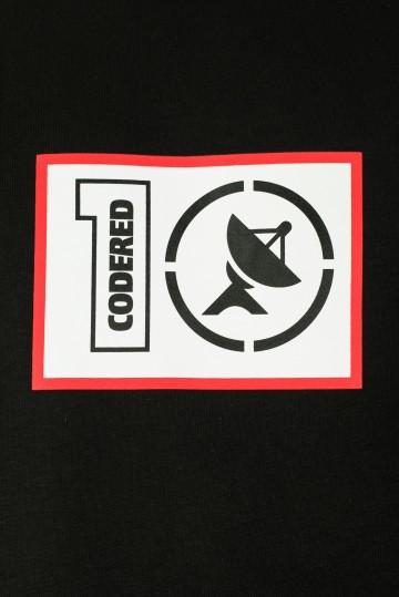 Толстовка-крюнек Firm CODERED x Грот 10 лет в эфире Черный