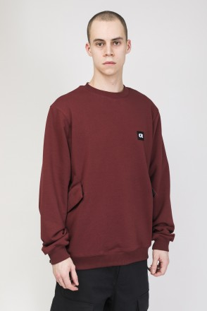 Shadow Crew Crew-neck Cherry
