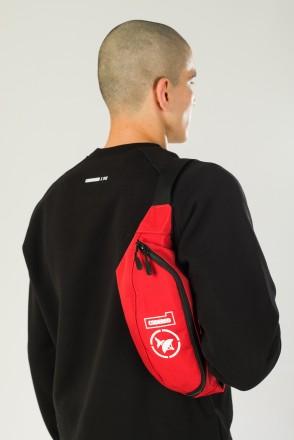 Hip Bag Large CODERED x Грот 10 лет в эфире Красный таслан
