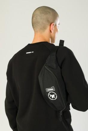 Hip Bag Large CODERED x Грот 10 лет в эфире Черный таслан