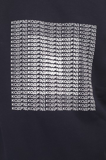 Firm Crew-neck Center Up Cyrillic Ink Blue