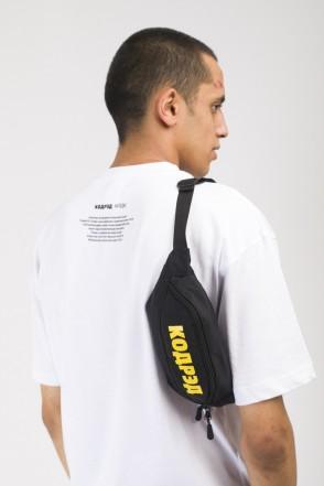 Hip Bag Black Taslan/Yellow print КОДРЭД