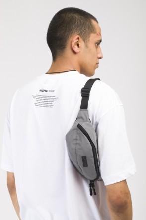 Сумка поясная Hip Bag Серый Светоотражающий