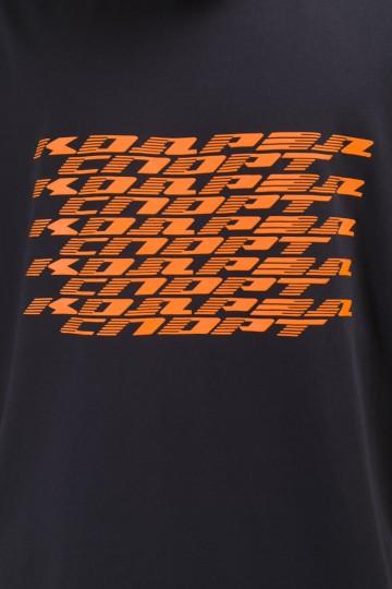 T-Shirt Dynamic Lines Ink Blue
