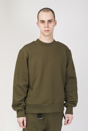 Superwide COR Crew-neck Army Green