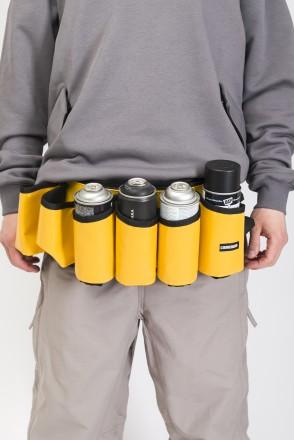 Сумка поясная для баллонов Cans Bag Желтая Теза/Белый принт CODERED